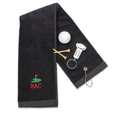 Personalized Golf Towel & Key Ring Tool Set