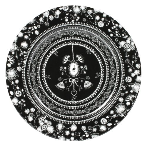 """Plate Flower - 12"""", Black"""