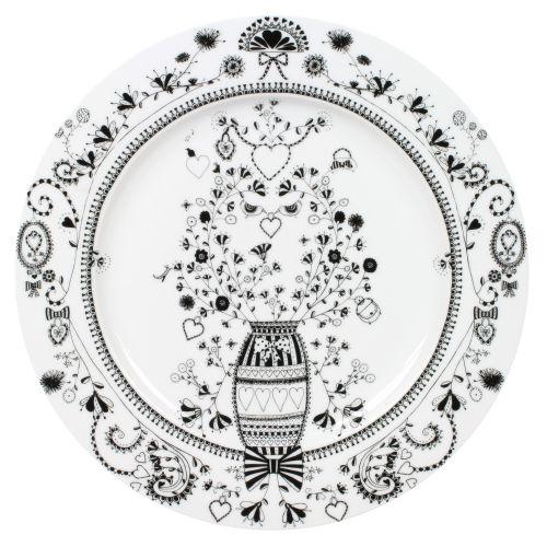 """Plate Flower - 12"""" , White"""