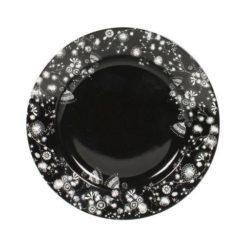 """Plate Flower - 6"""", Black"""