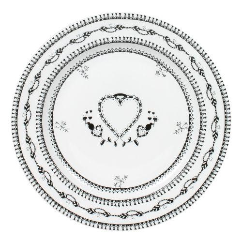 "Plate Heart - 6"", White"
