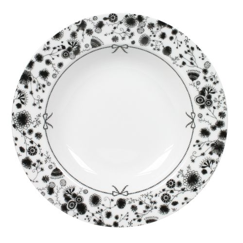 """Soup Plate Flower - 8"""", White"""