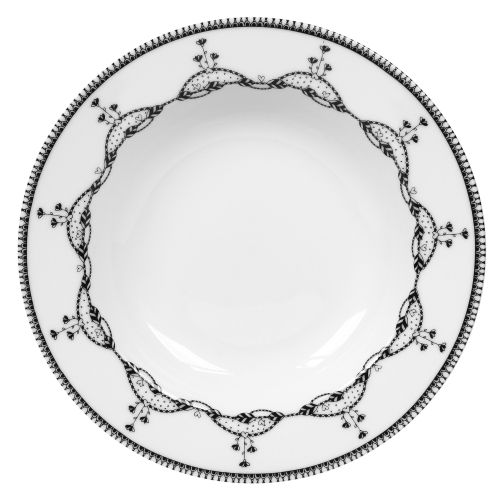 "Soup Plate Chain - 8"", White"