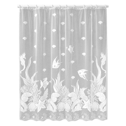Seascape 72X72 Shower Curtain, White