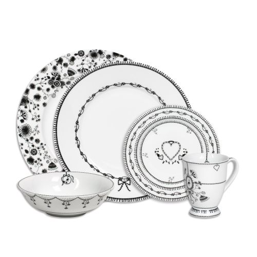 20 Piece Plate, Setting, White