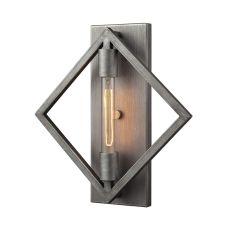 Laboratory 1 Light Sconce In Weathered Zinc - Bulb Included