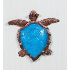 Wall Decor Metal and Glass, Turtle