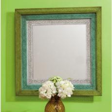 Blue and Green Wall Mirror