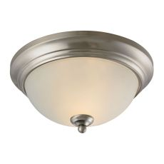 Huntington 2 Light Ceiling Lamp In Brushed Nickel