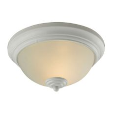 Huntington 2 Light Ceiling Lamp In White