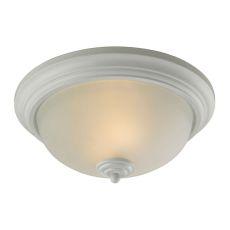 Huntington 3 Light Ceiling Lamp In White