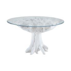 White Teak Root Entry Table