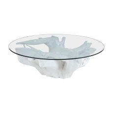 White Teak Root Coffee Table