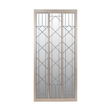 Empire State Floor Mirror With Leaded Glass