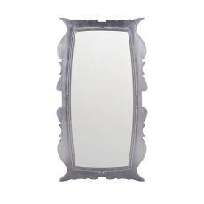 Annie Silver Leaf 58-Inch Mahogany And Glass Wall Mirror
