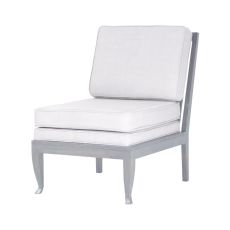 Janice Antique Smoke With Morning Mist Mahogany And Linen Upholstered Lounge Chair