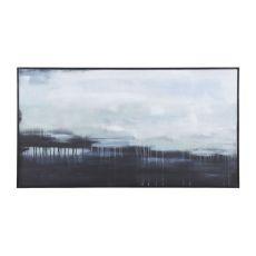 Dark Strand 34-Inch Hand Painted Canvas Wall Decor With Black Mahogany Frame