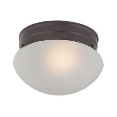 1 Light Mushroom Flushmount In Oil Rubbed Bronze