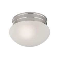 1 Light Mushroom Flushmount In Brushed Nickel