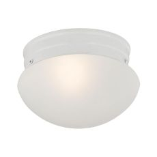 1 Light Mushroom Flushmount In White