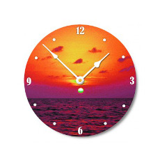 Florida Bay Sunset Wall Clock