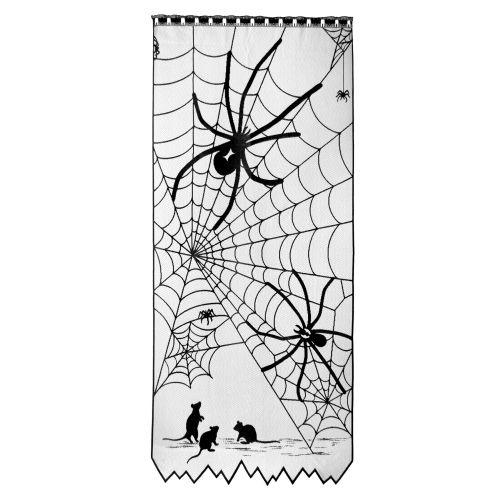 Tangled Web 38X84 Window Panel, Black