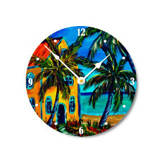 Living In Paradise Wall Clock