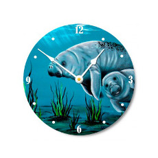 Momma Manatee Wall Clock