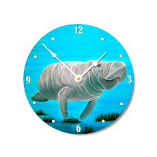 Mr. Manatee Wall Clock