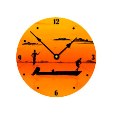 Poling For Bones For Bones Wall Clock