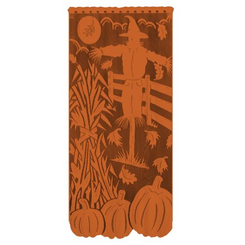 Scarecrow 38X76 Window Panel, Orange