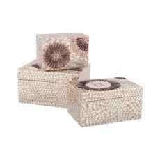Large Capiz Shell Urchin Box