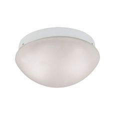 2 Light Mushroom Flushmount In White
