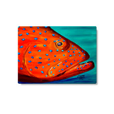 Coral Grouper Cutting Board