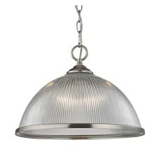 Liberty Park 1 Light Pendant In Brushed Nickel