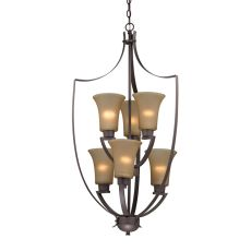 Foyer Collection 6 Light Chandelier In Oil Rubbed Bronze