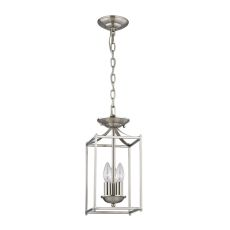 Foyer Collection 3 Light Pendant In Brushed Nickel