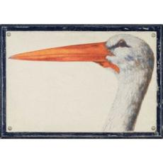 Linen Water Bird Framed Art