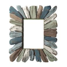 Coastal Colored Driftwood Picture Frame