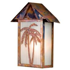 Tropical Floral Beach Wall Sconce