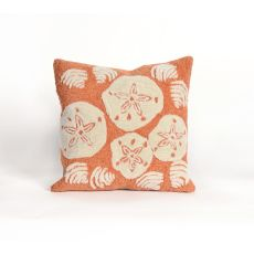 "Liora Manne Frontporch Shell Toss Indoor/Outdoor Pillow - Orange, 18"" Square"