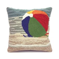"Liora Manne Frontporch Life'S A Beach Indoor/Outdoor Pillow - Multi, 18"" Square"