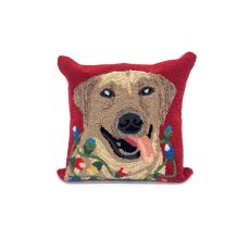 """Liora Manne Frontporch Happy Holidays Indoor/Outdoor Pillow - Red, 18"""" Square"""