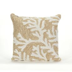 "Liora Manne Frontporch Coral Indoor/Outdoor Pillow - Natural, 18"" Square"