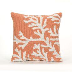 "Liora Manne Frontporch Coral Indoor/Outdoor Pillow - Orange, 18"" Square"