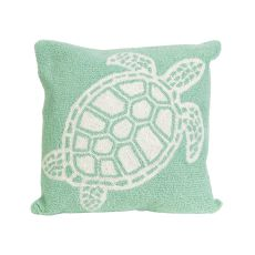 "Liora Manne Frontporch Turtle Indoor/Outdoor Pillow - Green, 18"" Square"