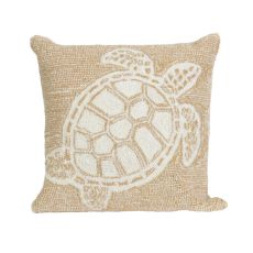 "Liora Manne Frontporch Turtle Indoor/Outdoor Pillow - Natural, 18"" Square"