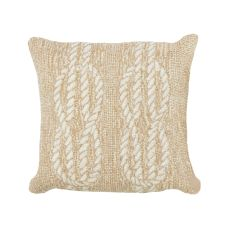 "Liora Manne Frontporch Ropes Indoor/Outdoor Pillow - Natural, 18"" Square"