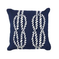 "Liora Manne Frontporch Ropes Indoor/Outdoor Pillow - Navy, 18"" Square"