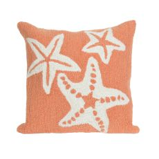 "Liora Manne Frontporch Starfish Indoor/Outdoor Pillow - Orange, 18"" Square"